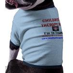 Perro de la terapia de los niños en camiseta del c camisetas de mascota