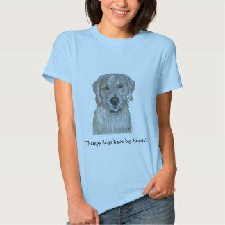 Perro de la terapia del mascota del golden camisas