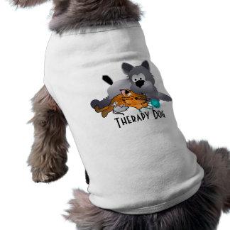 Perro de la terapia playera sin mangas para perro