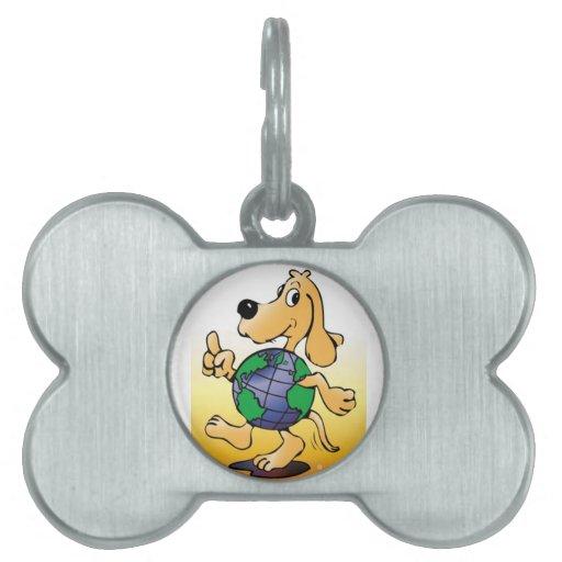 Perro de la tierra - placas de identificación placa de mascota