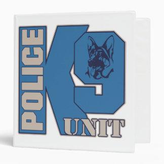 """Perro de la unidad de la policía K9 Carpeta 1 1/2"""""""