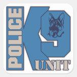 Perro de la unidad de la policía K9 Calcomanias Cuadradas