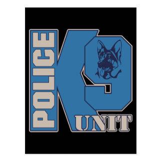 Perro de la unidad de la policía K9 Tarjeta Postal