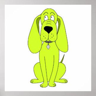 Perro de la verde lima. Historieta linda del perro Impresiones