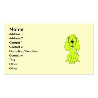 Perro de la verde lima. Historieta linda del perro Tarjetas De Visita