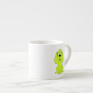 Perro de la verde lima. Historieta linda del perro Taza Espresso