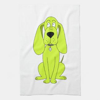 Perro de la verde lima. Historieta linda del perro Toallas