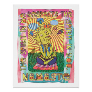 Perro de la yoga de Namaste Posters