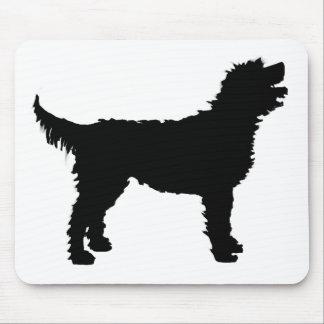 Perro de Labradoodle (en negro) Alfombrilla De Raton
