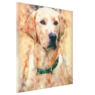 Perro de Labradore Retrever de la acuarela, lona Impresión En Lienzo
