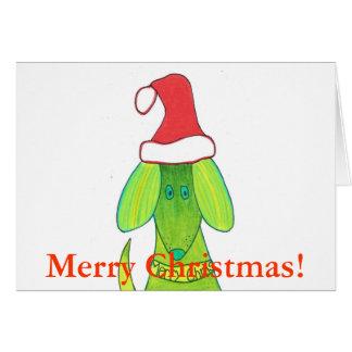 Perro de las Felices Navidad Tarjeta De Felicitación
