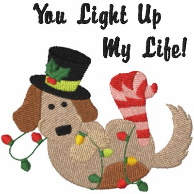 Perro de las luces de navidad