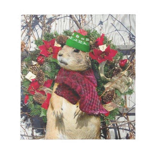 Perro de las praderas del navidad bloc de notas