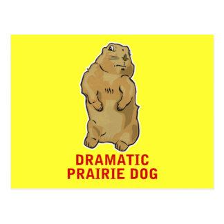 Perro de las praderas dramático postal