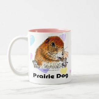 perro de las praderas (figura trasera de A) Tazas De Café