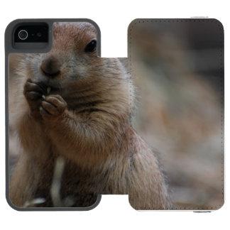 Perro de las praderas hambriento funda cartera para iPhone 5 watson
