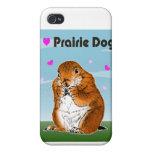 Perro de las praderas. iPad, casos del iPhohe iPhone 4 Protectores