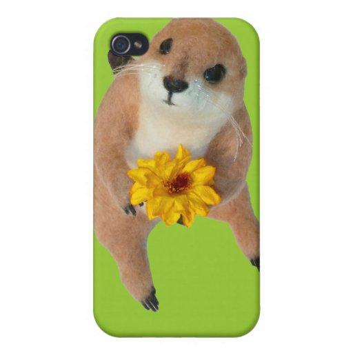 Perro de las praderas. iPad, casos del iPhohe iPhone 4 Funda
