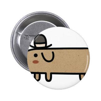 Perro de lujo de la salchicha de Frankfurt con el  Pin