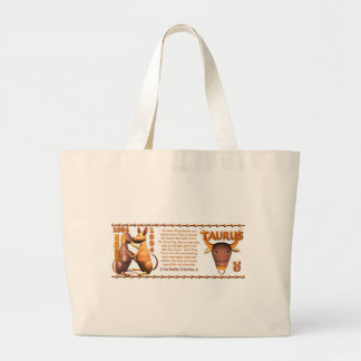 Perro de madera 1934 de Yin del tauro del zodiaco Bolsa Tela Grande