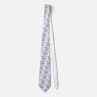 Perro de maíz en invierno corbatas personalizadas