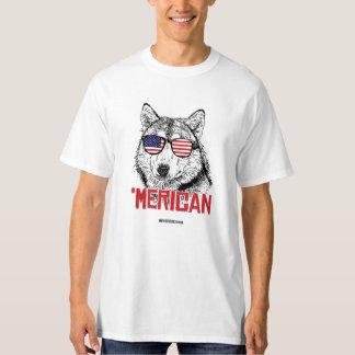 'Perro de Merican - - humor de Politiclothes Playera