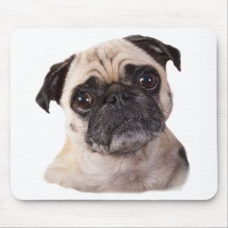 perro de mirada confuso del barro amasado tapetes de ratón