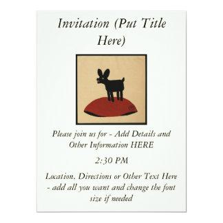 """Perro de mirada divertido impar - ejemplo de libro invitación 6.5"""" x 8.75"""""""