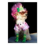 Perro de moda Notecard de la mezcla del juguete Felicitaciones