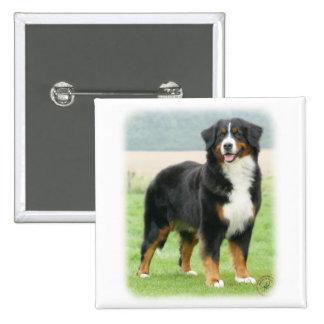 Perro de montaña de Bernese 9Y066D-133 Pin Cuadrada 5 Cm
