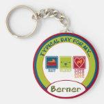 Perro de montaña de Bernese [Berner] Llavero Personalizado