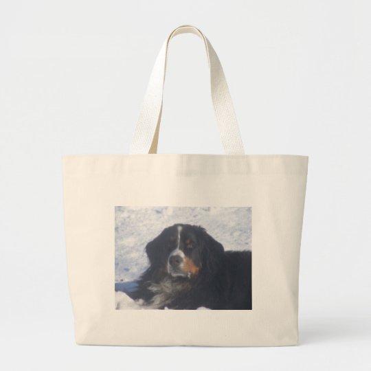 Perro de montaña de Bernese Bolsa De Tela Grande
