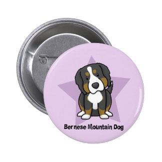 Perro de montaña de Bernese de la estrella de Kawa Pin Redondo 5 Cm