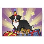 Perro de montaña de Bernese del cumpleaños