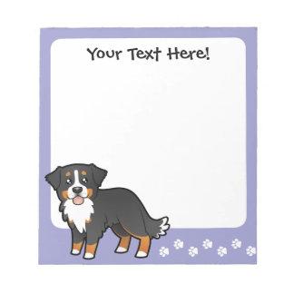 Perro de montaña de Bernese del dibujo animado Libreta Para Notas