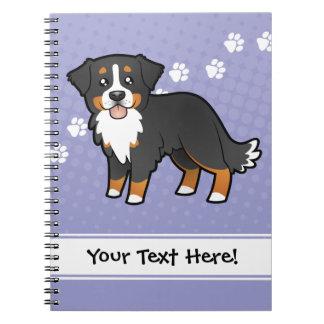 Perro de montaña de Bernese del dibujo animado Note Book
