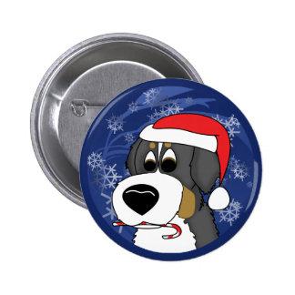 Perro de montaña de Bernese del navidad Pin Redondo 5 Cm