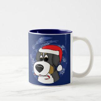 Perro de montaña de Bernese del navidad Tazas