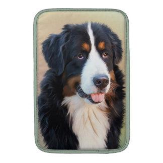 Perro de montaña de Bernese, el perro obediente Fundas MacBook