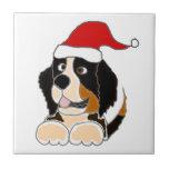Perro de montaña de Bernese en arte del navidad de Azulejo Ceramica