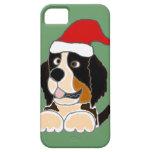 Perro de montaña de Bernese en arte del navidad de iPhone 5 Cobertura