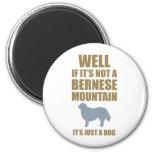 Perro de montaña de Bernese Imán Redondo 5 Cm