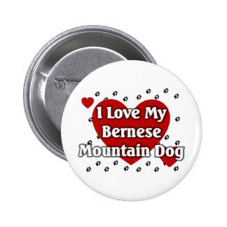 Perro de montaña de Bernese Pin Redondo De 2 Pulgadas