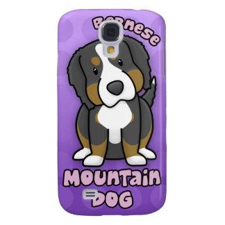 Perro de montaña de Bernese púrpura del dibujo ani Funda Para Samsung Galaxy S4