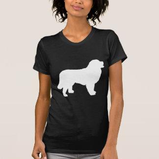 Perro de montaña de Bernese (silueta blanca) Camiseta