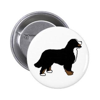 Perro de montaña de Bernese Triclolor Pin Redondo 5 Cm