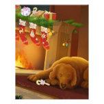 perro de Navidad Membretes Personalizados