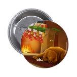 perro de Navidad Pins