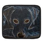 Perro de neón mangas de iPad