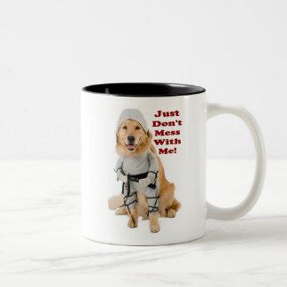 ¡Perro de Ninja! Taza De Café De Dos Colores